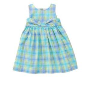 Janie & Jack Tropical Sea dress diaper cover plaid